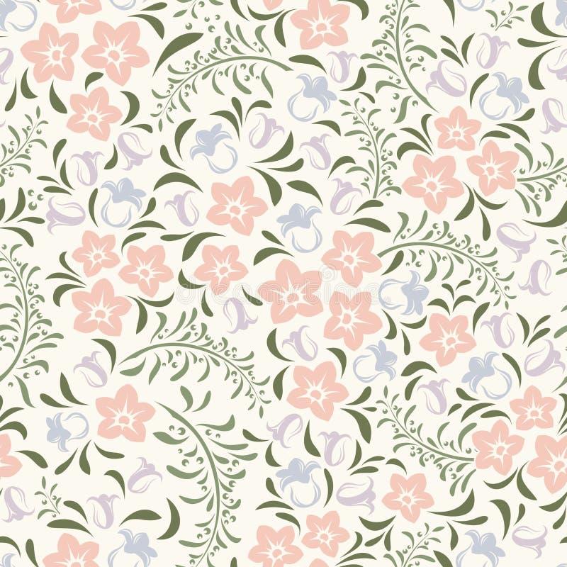 Naadloos uitstekend bloemenpatroon Vector illustratie vector illustratie