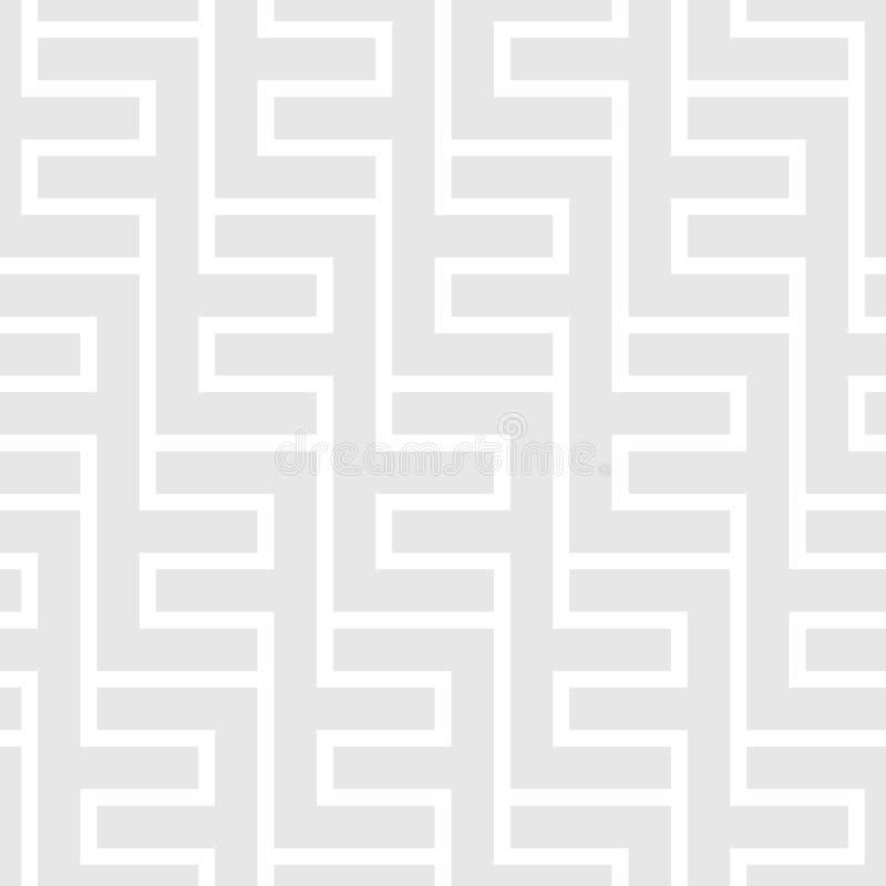 Naadloos uitstekend geometrisch patroon Etnische vectorachtergrond Gr. stock illustratie