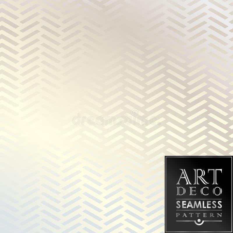 Naadloos uitstekend het behangpatroon van Art Deco royalty-vrije illustratie