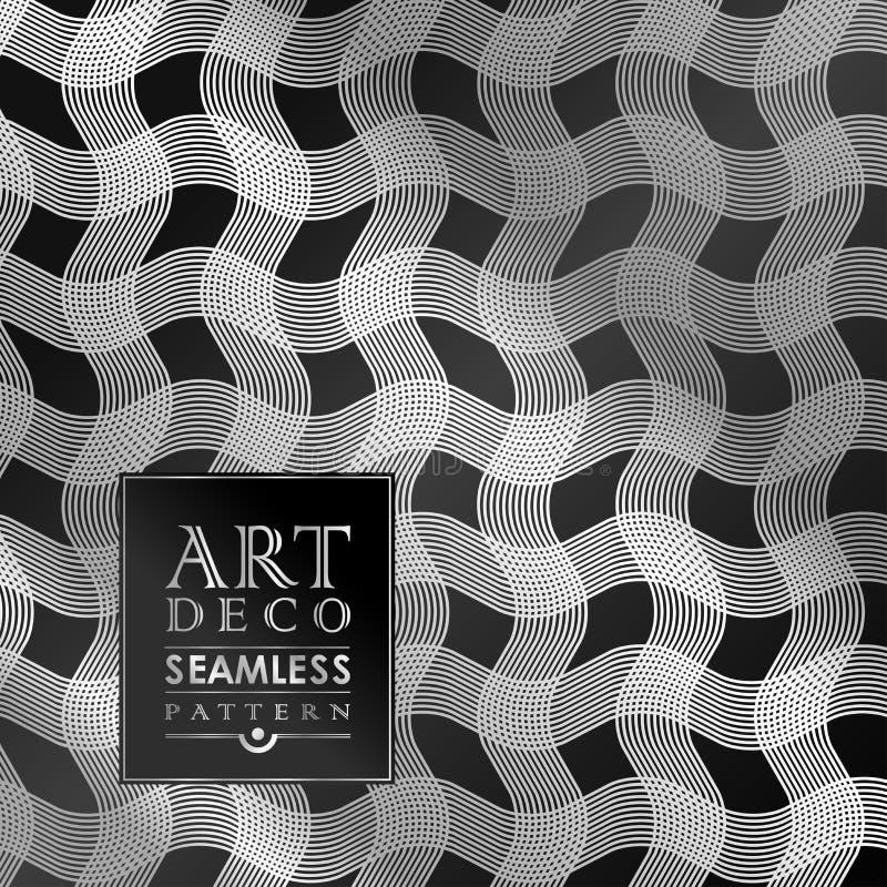 Naadloos uitstekend het behangpatroon van Art Deco vector illustratie