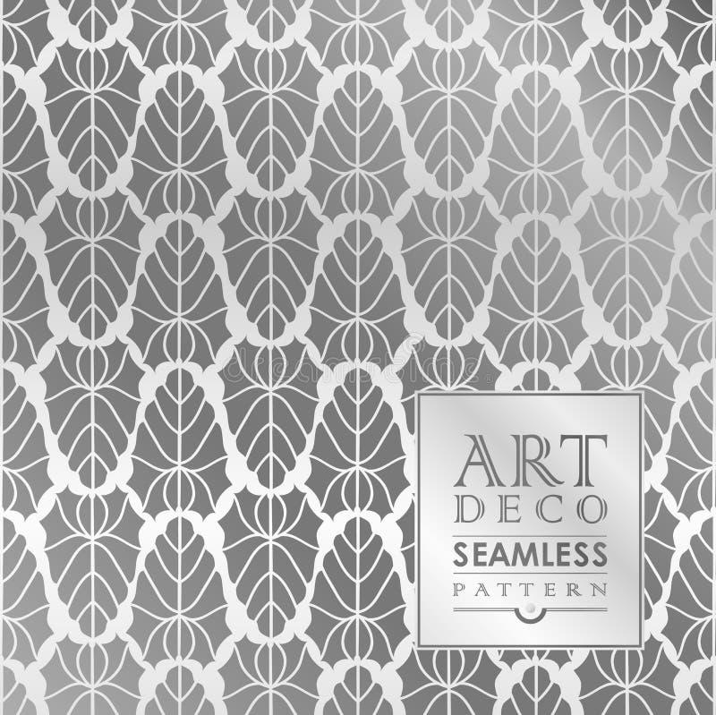 Naadloos uitstekend het behangpatroon van Art Deco stock illustratie