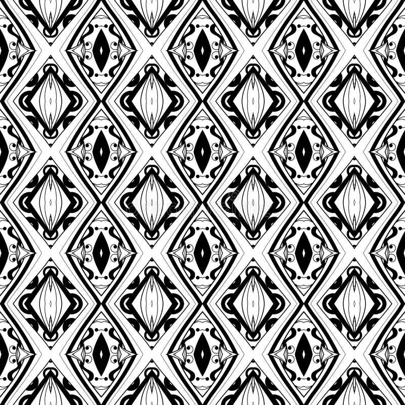 Naadloos Uitstekend Kantpatroon (Vector) stock illustratie