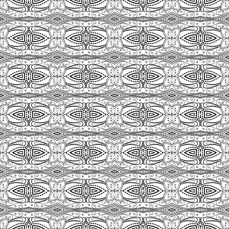 Naadloos Uitstekend Kantpatroon (Vector) vector illustratie