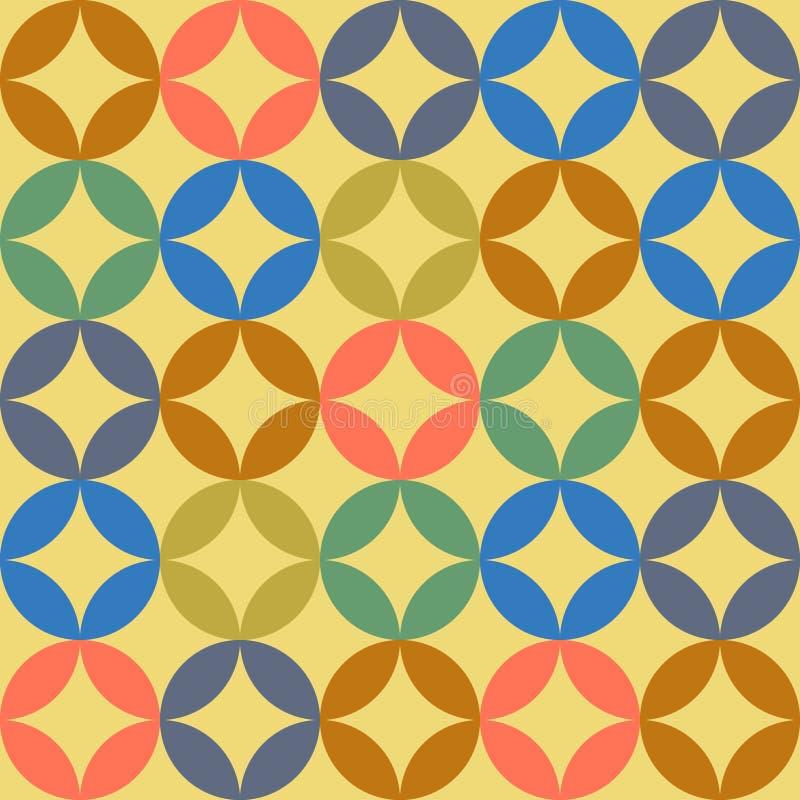 Naadloos Uitstekend Patroon vector illustratie