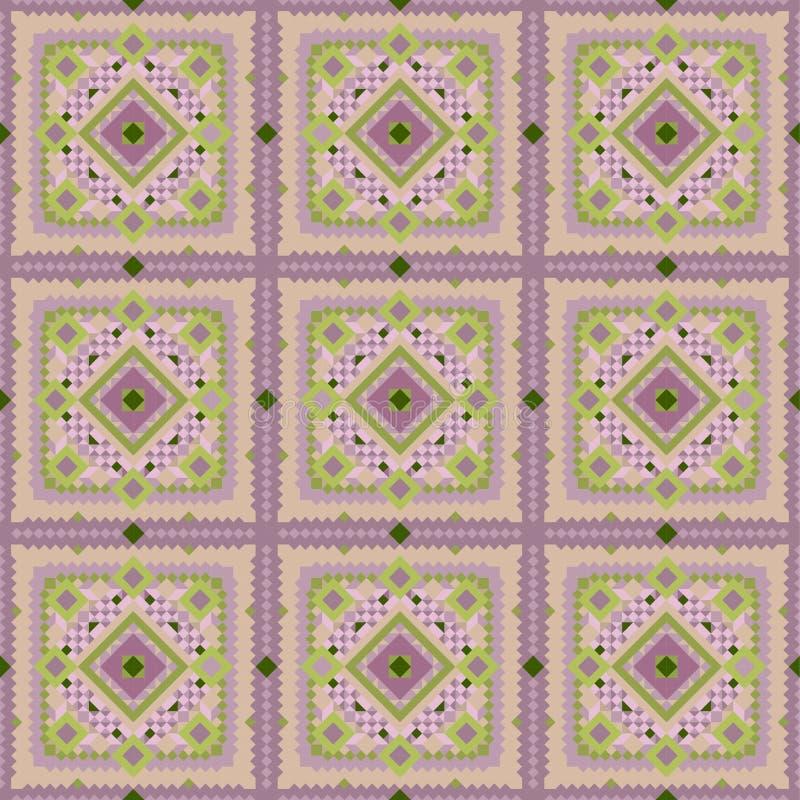 Naadloos uitstekend roze tegel vectorpatroon vector illustratie
