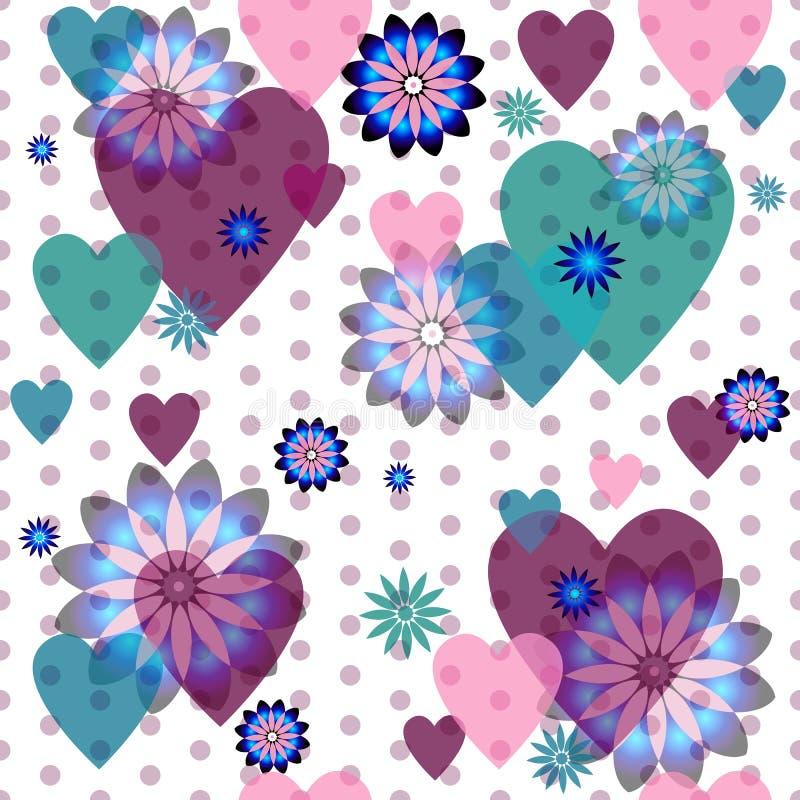Naadloos valentijnskaartpatroon royalty-vrije illustratie