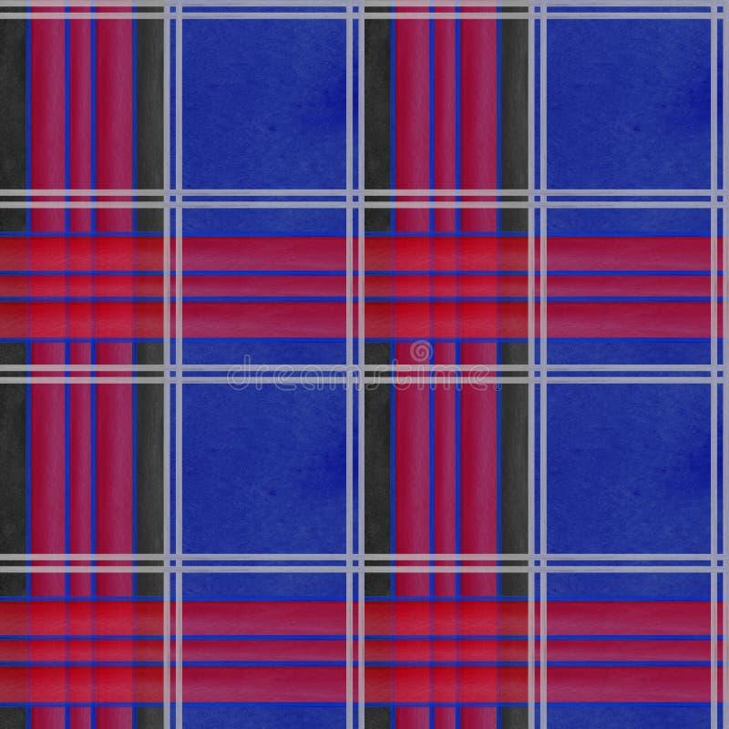 Naadloos van de de achtergrond waterverfkooi van de patroonkooi de illustratie texturen digitaal document textiel retro behang vector illustratie