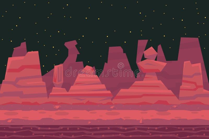 Naadloos van de de Doodscanion van de Nachtwoestijn de Aardconcept vector illustratie