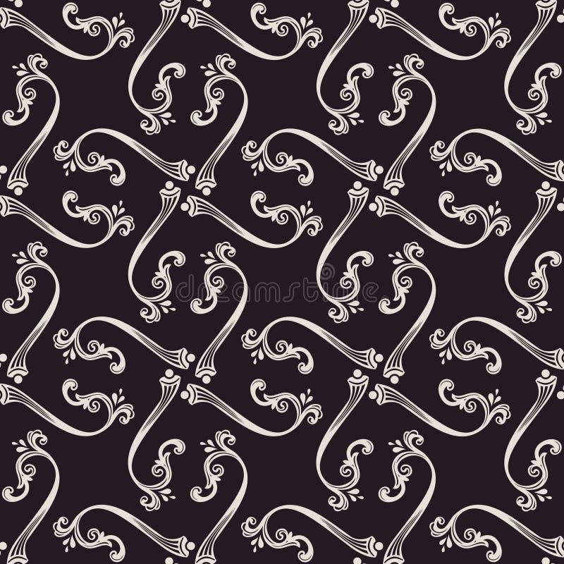 Download Naadloos Vector Barok Bloemenbehang Wijnoogst Vector Illustratie - Illustratie bestaande uit damast, antiquiteit: 54086127