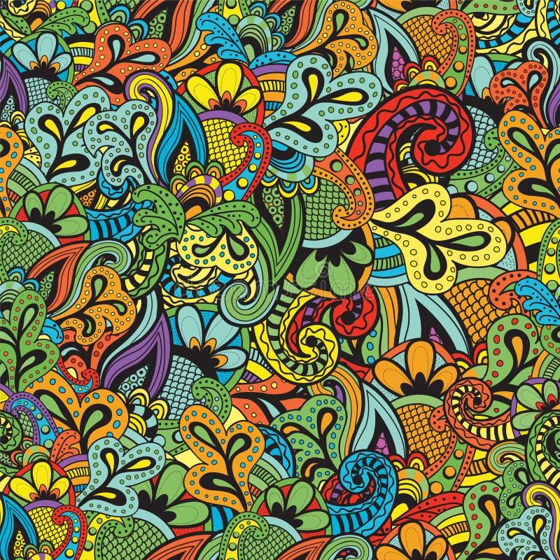 Naadloos Vector bloemenpatroon royalty-vrije illustratie