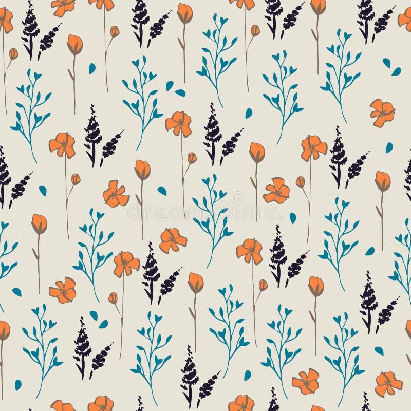 Naadloos vector bloemenpatroon vector illustratie