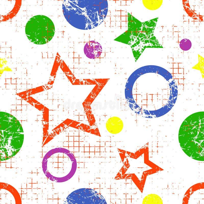 Naadloos vector geometrisch patroon stock illustratie