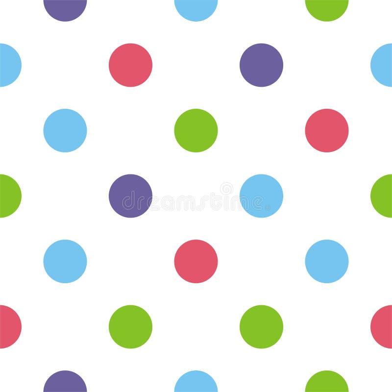 Naadloos vector kleurrijk stippenachtergrond of patroon stock illustratie