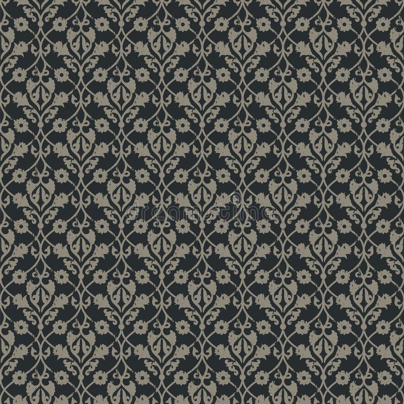 Naadloos vector koninklijk uitstekend bloemenpatroon ontwerp voor dekking, het verpakken, textiel, behang vector illustratie