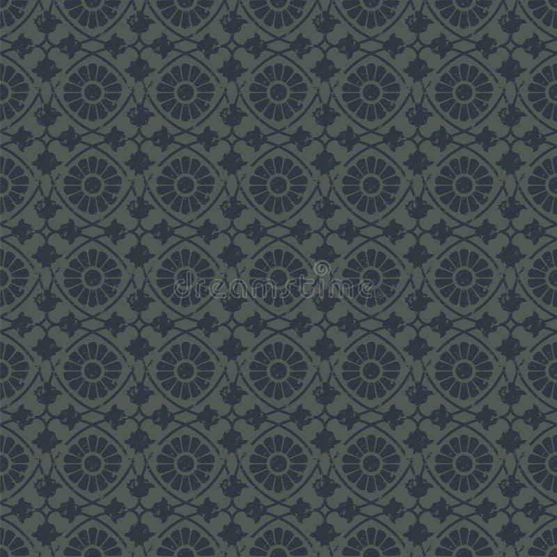 Naadloos vector koninklijk uitstekend bloemenpatroon ontwerp voor dekking, het verpakken, textiel, behang royalty-vrije illustratie