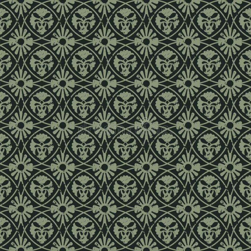 Naadloos vector koninklijk uitstekend bloemenpatroon ontwerp voor dekking, het verpakken, textiel, behang stock illustratie