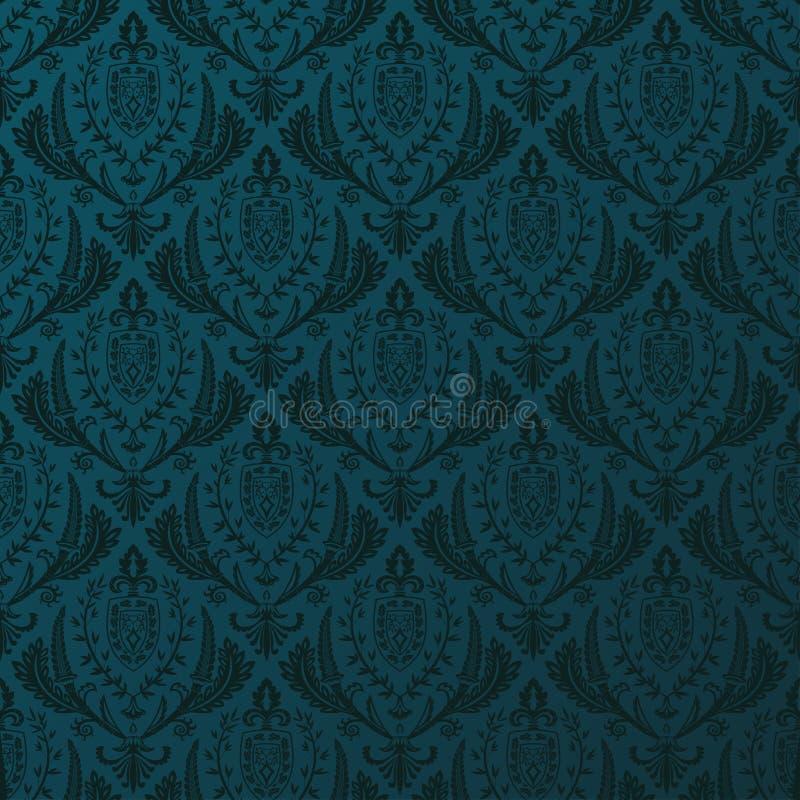 Download Naadloos Vector Retro Behang Barokke Wijnoogst Vector Illustratie - Illustratie bestaande uit ornament, repeating: 54086493