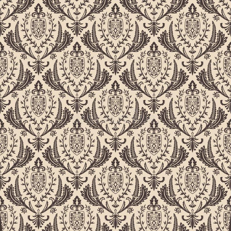 Download Naadloos Vector Retro Behang Barokke Wijnoogst Vector Illustratie - Illustratie bestaande uit samenvatting, sier: 54088998