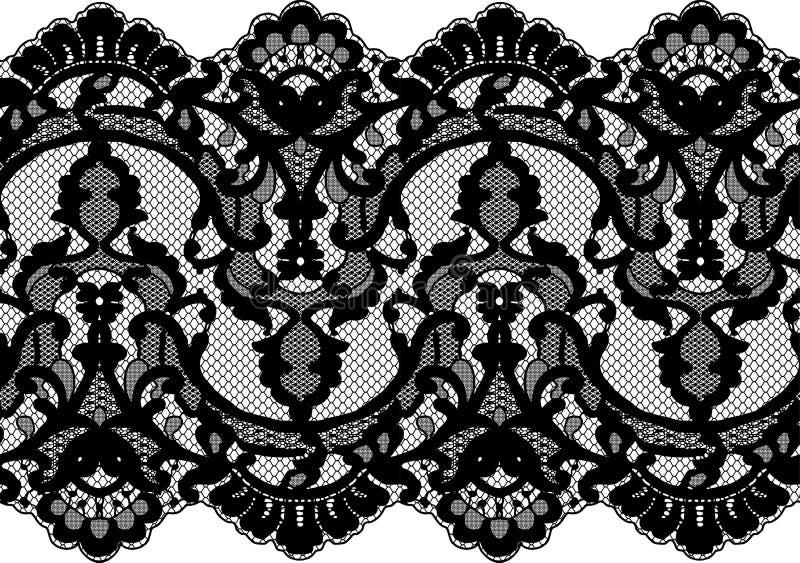 Naadloos vector zwart kant vector illustratie
