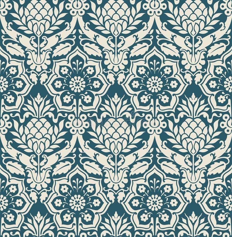 Naadloos vectorbehang in victorian stijl stock illustratie