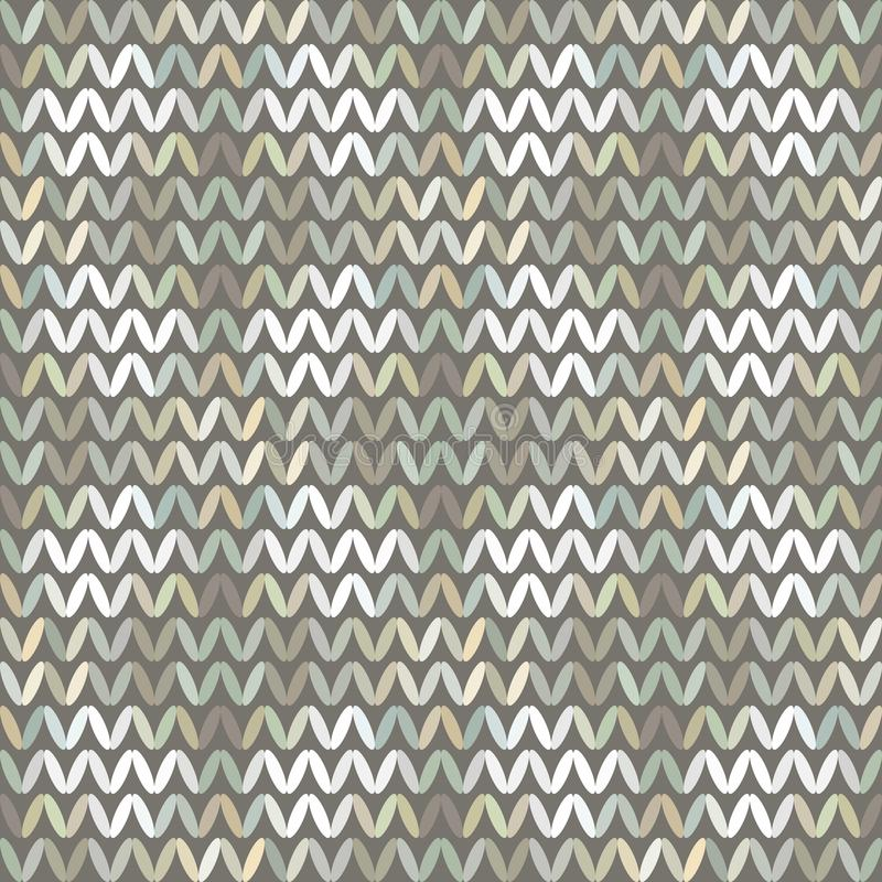 Naadloos Vectorchevronpatroon met Abstracte Elementen Geschilderde Randomfor-Stof stock illustratie