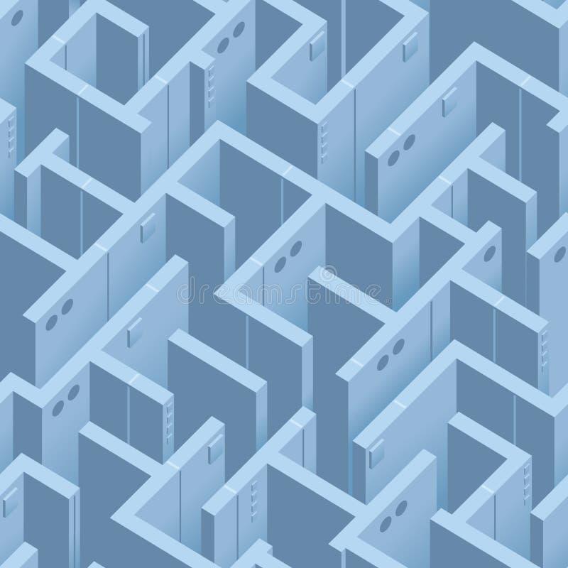 Naadloos Vectormaze pattern voor Dekking of Textielontwerp royalty-vrije illustratie