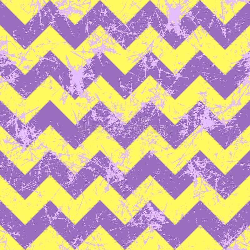 Naadloos vectorpatroon Creatieve geometrische violette en gele achtergrond met zigzag vector illustratie