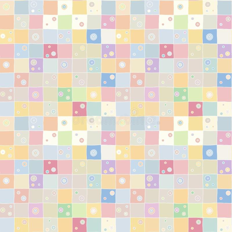 Naadloos vectorpatroon De geweven geometrische getrokken achtergrond met cijfers, vierkanten, cirkel, stippelt lijnen, rechthoeke royalty-vrije illustratie