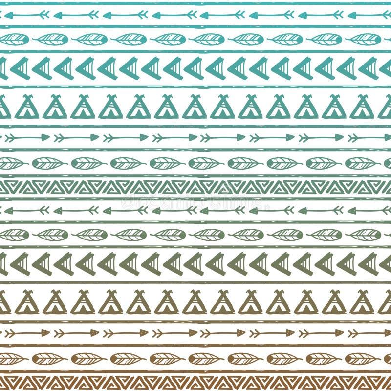 Naadloos vectorpatroon in de stijl van boho of royalty-vrije illustratie