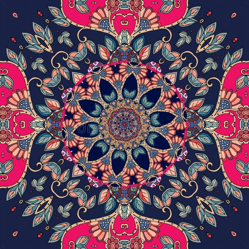 Naadloos vectorpatroon in etnische stijl kussensloop tafelkleed vector illustratie