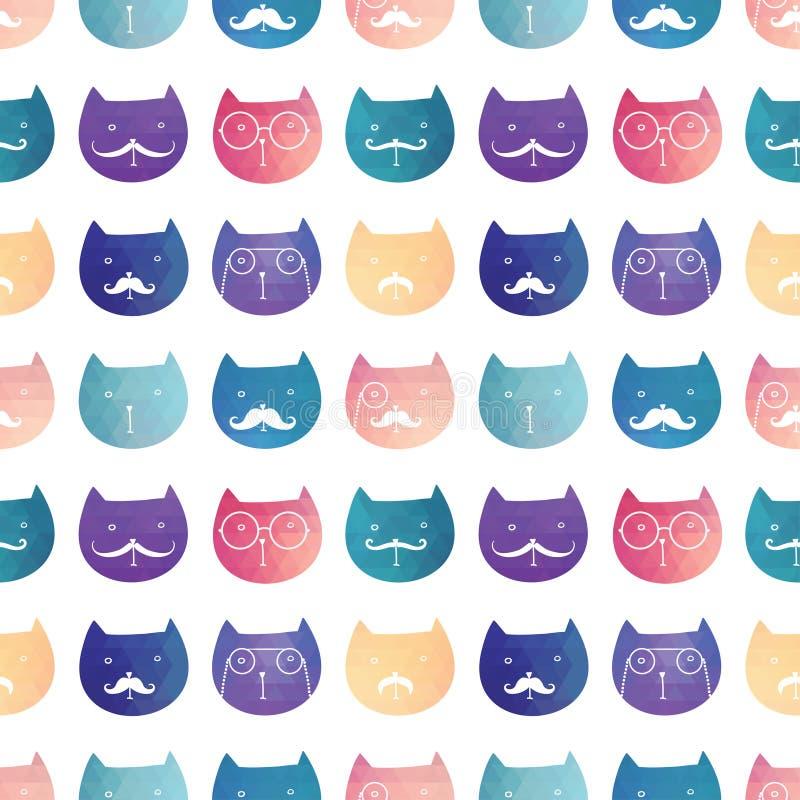 Naadloos vectorpatroon katten royalty-vrije illustratie