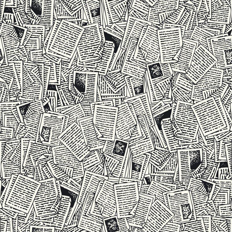 Naadloos Vectorpatroon met Boekpagina's vector illustratie