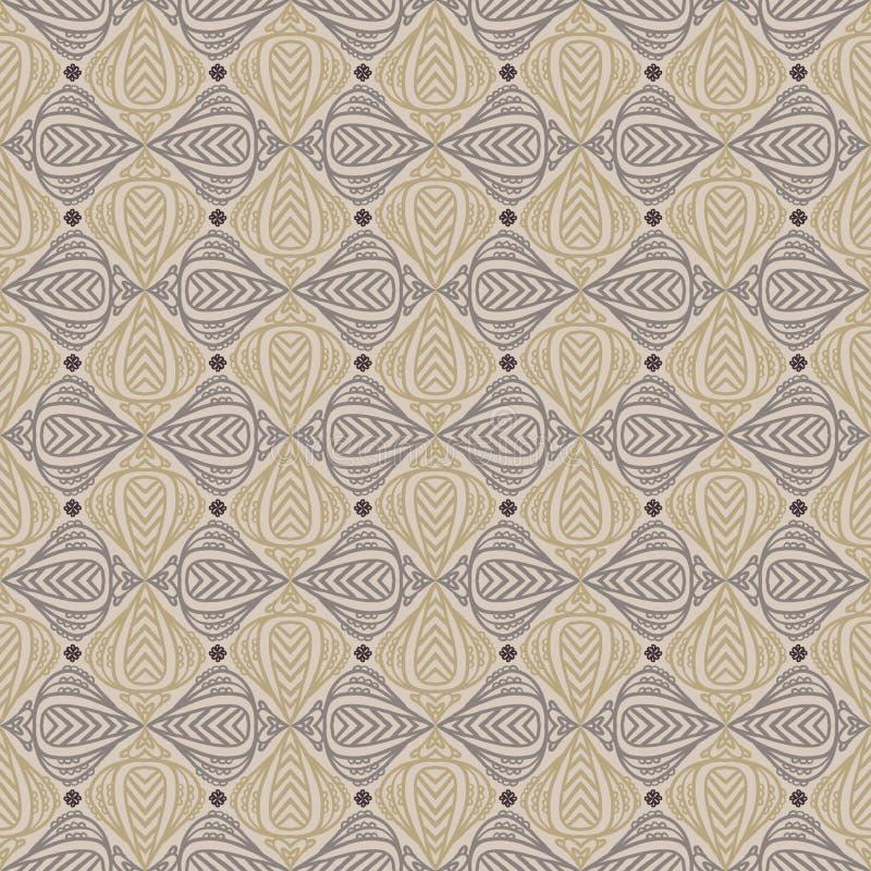 Uitstekend patroon in sepia kleur stock illustratie