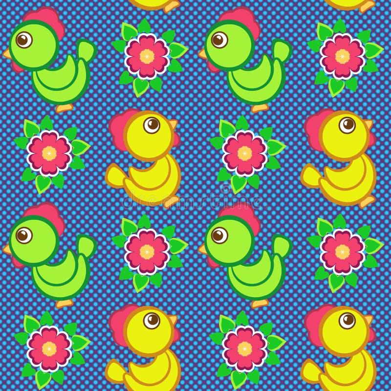 Naadloos vectorpatroon met speelgoed stock illustratie