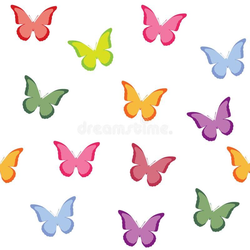 Naadloos vectorpatroon met vlinders vector illustratie