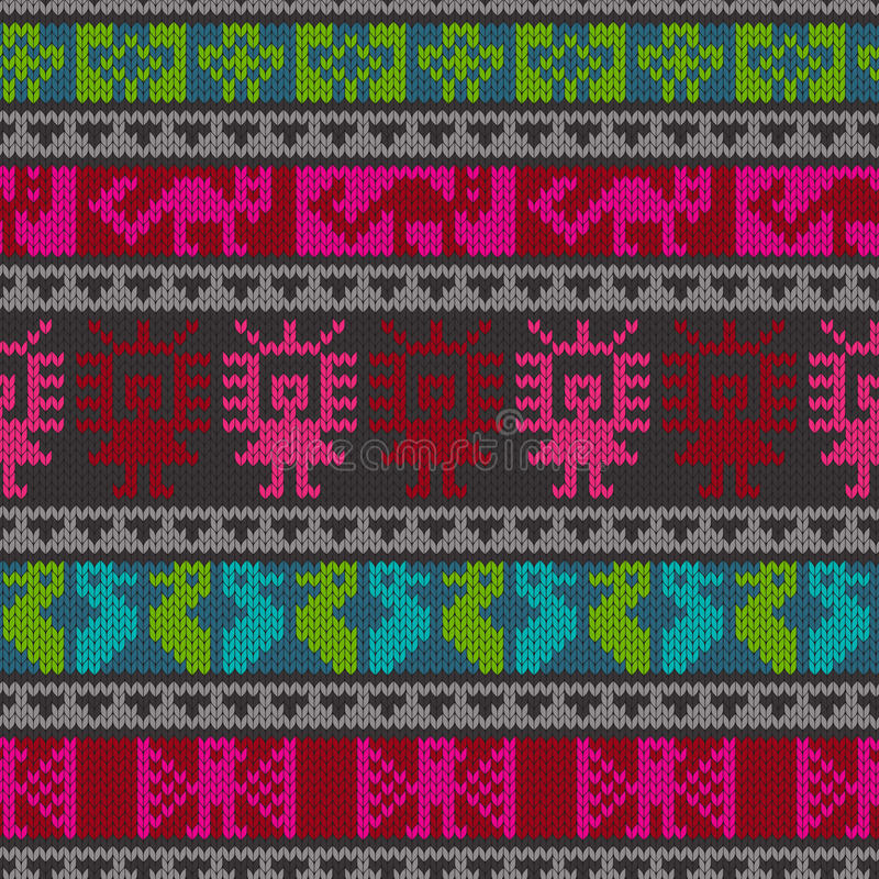 Traditioneel Andes breiend patroon stock illustratie