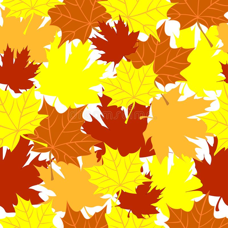 Naadloos vectorpatroon van esdoornbladeren Autumn Colors royalty-vrije illustratie