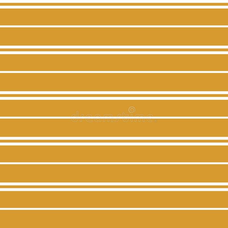 Naadloos vectorstreeppatroon met horizontale parallelle strepen vector illustratie