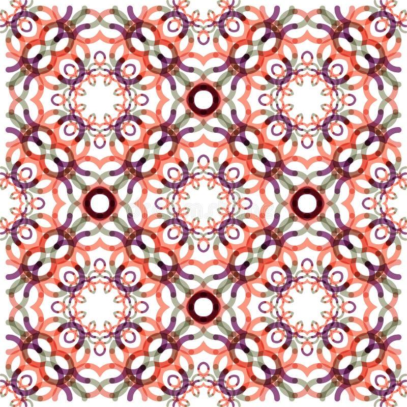 Naadloos vectorwervelingspatroon Moderne textuur vector illustratie