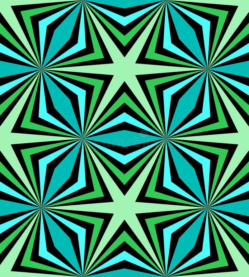 Naadloos Veelhoekig Blauw en Groen Patroon Geometrische abstracte achtergrond Geschikt voor textiel, stof, verpakking en Web ontw vector illustratie