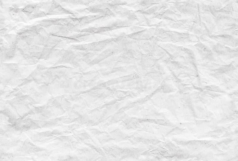 Naadloos verfrommeld document patroon, achtergrondtextuur royalty-vrije stock afbeeldingen