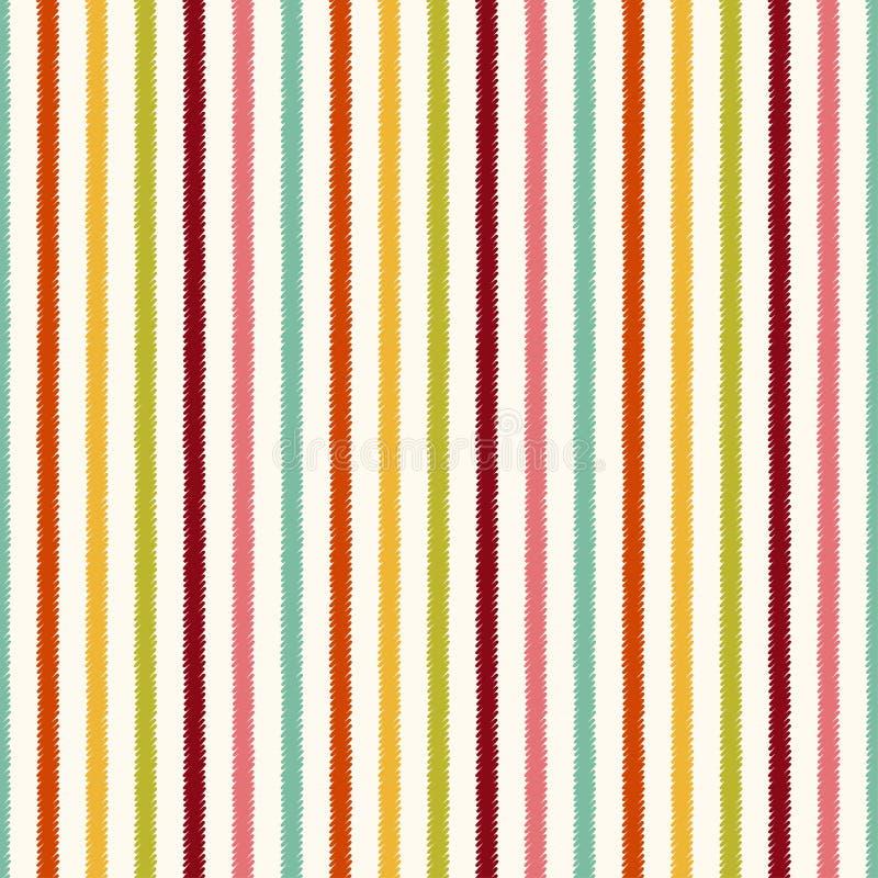 Naadloos verticaal strepen geweven patroon royalty-vrije illustratie