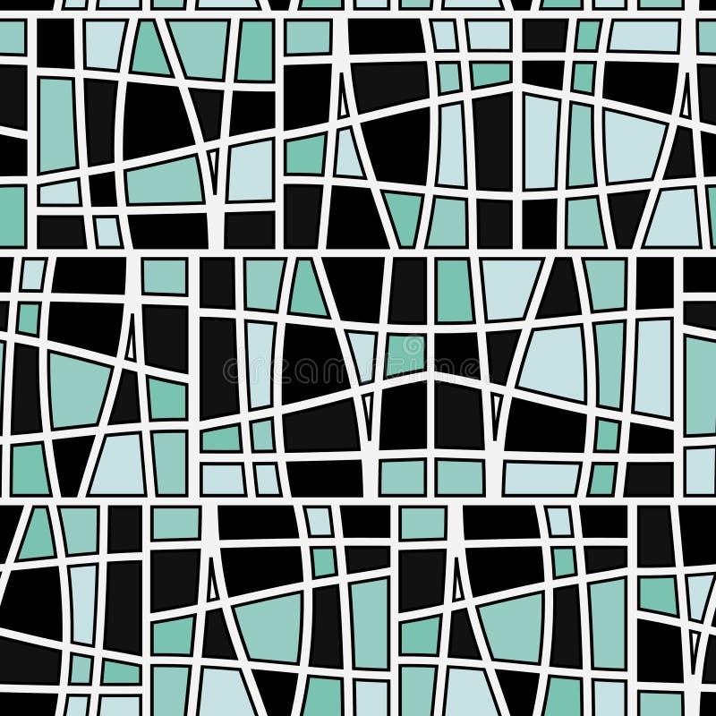 Naadloos vierkant patroon royalty-vrije illustratie