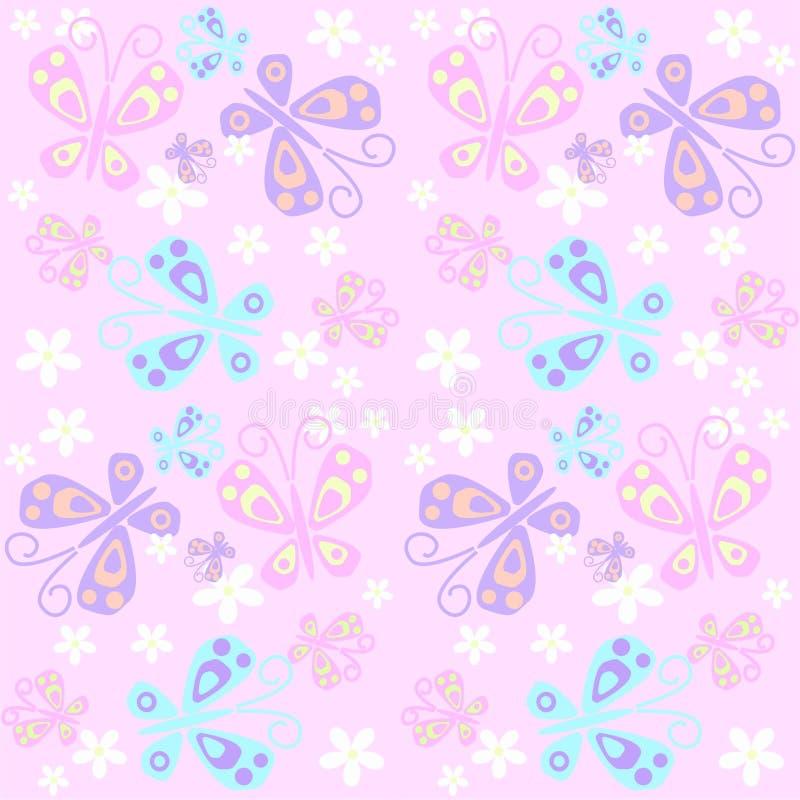 naadloos vlinderpatroon stock illustratie