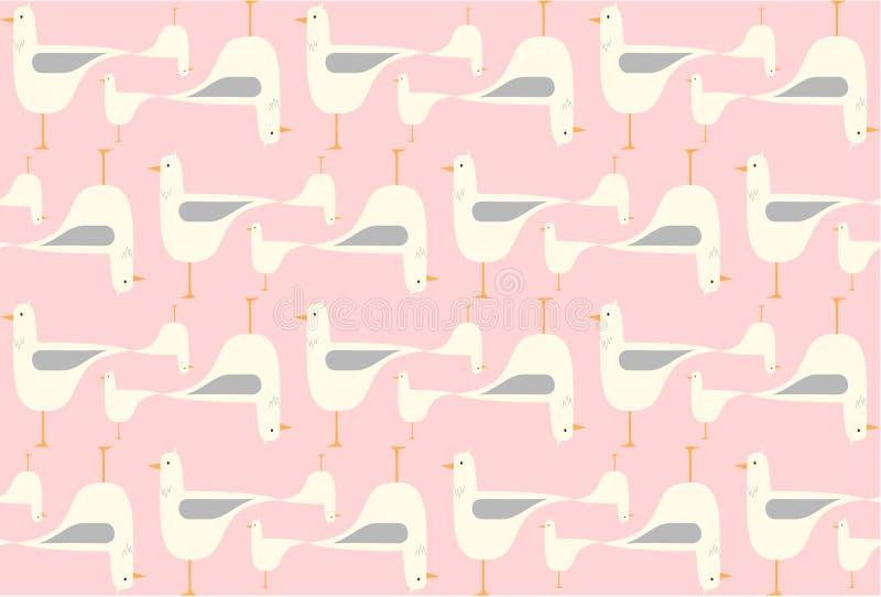 Naadloos vogelspatroon royalty-vrije illustratie