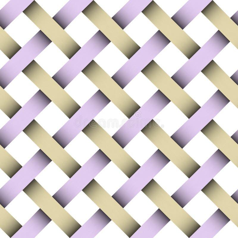 Naadloos wevend patroon met het knippen van flard royalty-vrije illustratie