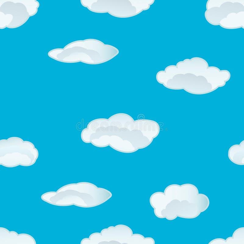 Naadloos wolkenpatroon royalty-vrije illustratie