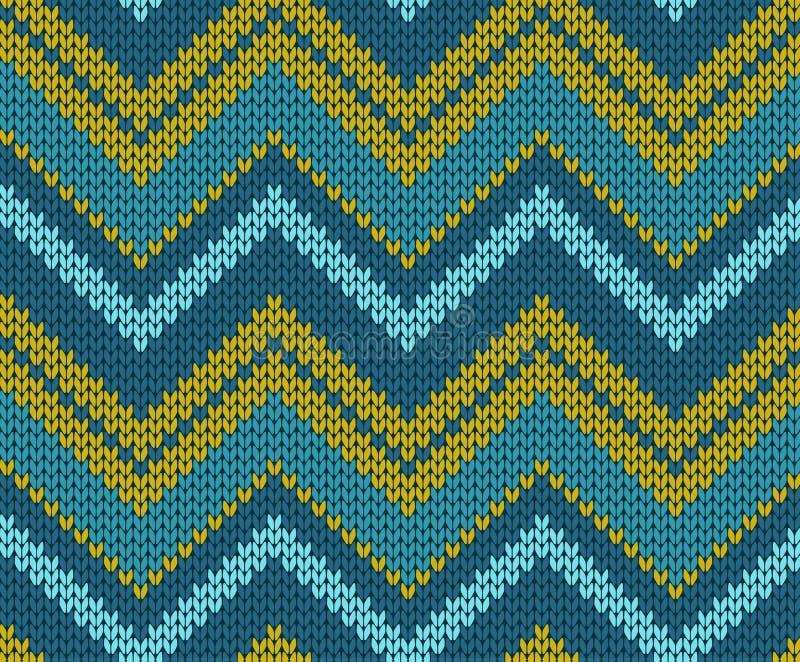 Naadloos zigzag gebreid patroon royalty-vrije illustratie