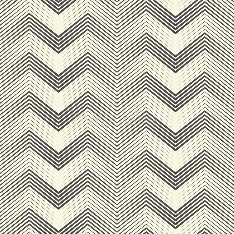 Naadloos zigzagpatroon Abstracte Zwart-witte Streep en Lin royalty-vrije illustratie