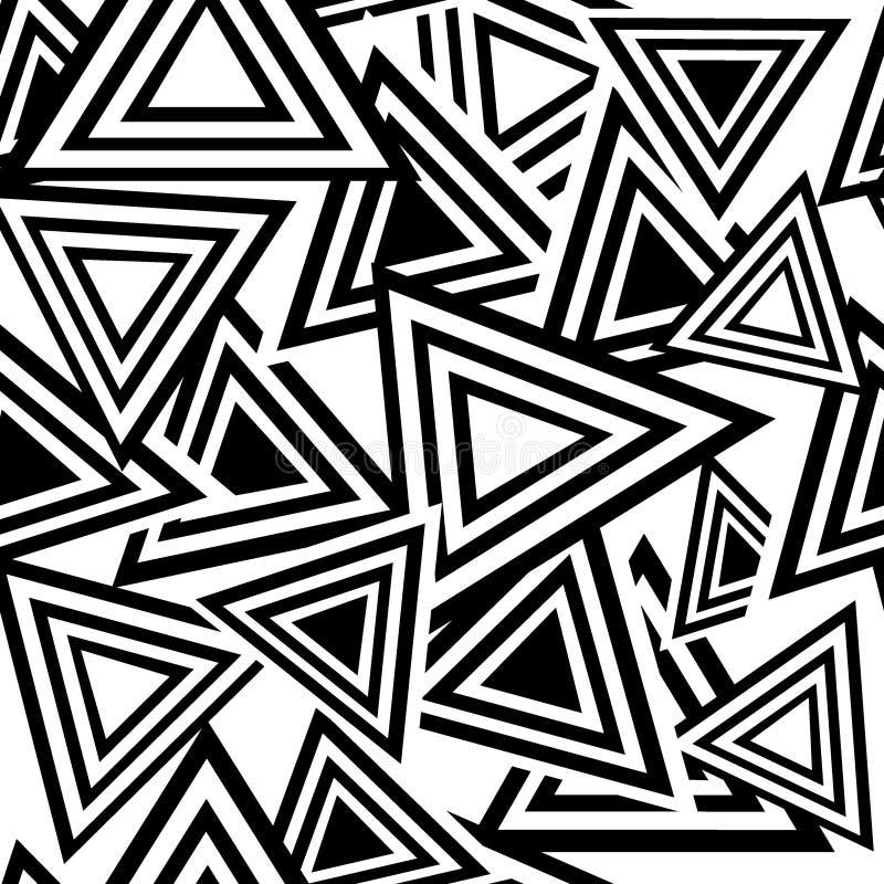 Naadloos zwart driehoekspatroon royalty-vrije illustratie